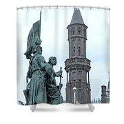 Bruges Markt 5 Shower Curtain