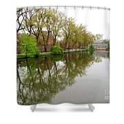Bruges Minnewater 1 Shower Curtain