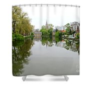 Bruges Minnewater 2 Shower Curtain