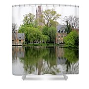 Bruges Minnewater 3 Shower Curtain