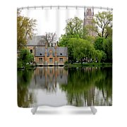 Bruges Minnewater 5 Shower Curtain