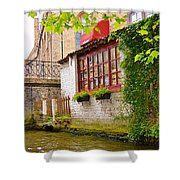 Bruge Canal Shower Curtain