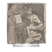 Brujas ? Volar (witches Preparing To Fly) [verso] Shower Curtain