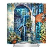 Brulatour Courtyard Shower Curtain