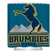 Brumbies Rugby Shower Curtain