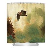 Bruno Liljefors, Landscape With Snipe. Shower Curtain