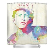 Bruno Mars Watercolor Shower Curtain