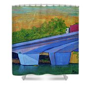 Brunswick River Bridge Shower Curtain