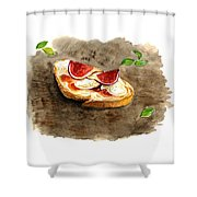 Bruschette Con Fichi Shower Curtain