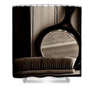 Brush And Mirror Shower Curtain