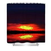 Brush Fire Sunset Shower Curtain
