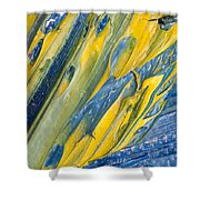 Brush Stroke Detail 8066 Shower Curtain