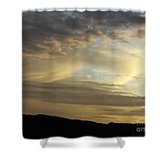 Brush Strokes In The Sky Shower Curtain