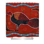 Brush Turkey Shower Curtain