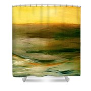 Brushed 4 - Vertical Sunset Shower Curtain
