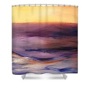 Brushed 6 - Vertical Sunset Shower Curtain