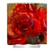 Brushed Flowers Shower Curtain