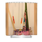 Brushes Of An Artist Shower Curtain