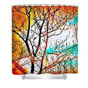 Brushfire Shower Curtain