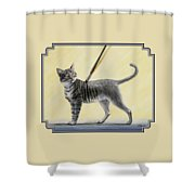 Brushing The Cat - No. 2 Shower Curtain by Crista Forest