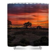 Brushstrokes In The Sky Shower Curtain