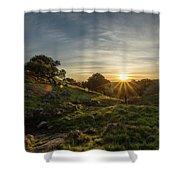 Brushy Peak Sunset Shower Curtain