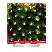 Brussel Sprouts , Cucumbers And Carrots Shower Curtain