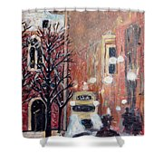 Brussels At Night Shower Curtain