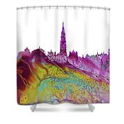 Brussels City Skyline 2 Shower Curtain