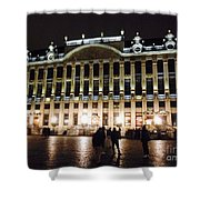 Brussels Lights At Plaza Shower Curtain