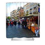 Brussels Market Shower Curtain