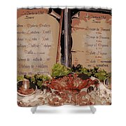 Brussels Menu - Digital Shower Curtain