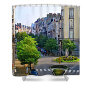 Brussels Row Shower Curtain