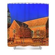 Bruton Parish Church In The Warm Autumn Afternoon Sunlight 6477tmt Shower Curtain