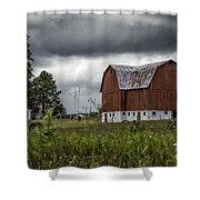 Brutus Barn 2 Shower Curtain
