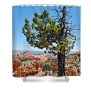 Bryce Canyon Fairyland Point Portrait Shower Curtain