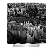 Bryce Canyon In Black And White Shower Curtain