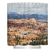 Bryce Canyon Looking Towards Aquarius Plateau   Shower Curtain