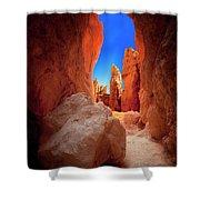 Bryce Canyon Narrows Shower Curtain