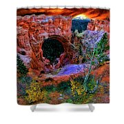 Bryce Canyon Natural Bridge Shower Curtain
