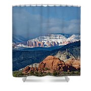 Bryce Canyon Snowstorm Shower Curtain