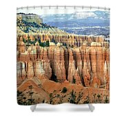Bryce Canyon Vertical Hoodoos Shower Curtain
