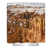 Bryce Canyon Winter Panorama - Bryce Canyon National Park - Utah Shower Curtain