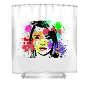 Bryce Dallas Howard Pop Art Shower Curtain