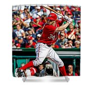 Bryce Harper Washington Nationals Shower Curtain