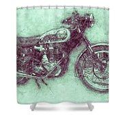 Bsa Gold Star 3 - 1938 - Motorcycle Poster - Automotive Art Shower Curtain