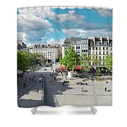 Georges Pompidou Square Shower Curtain