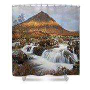 Buachaille Etive Waterfalls Shower Curtain