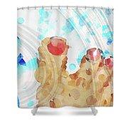 Bubble Bath - Sharon Cummings Shower Curtain