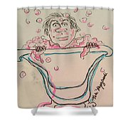 Bubble Bath Time Shower Curtain